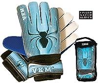 新しいVKM gk18サッカーゴールGoalie Gloves W /指セーバー保護サイズ4–9ブルー 4