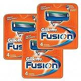 Gillette ジレットフュージョンマニュアル 替刃 4個 8個 12個 16個 シェービング 男性用 (替刃12個) [並行輸入品]