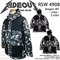 ∴スノーボード ウェア/ ジャケット 中綿 rideout(ライドアウト) dragon jacket RSW4908 メンズ レディース 14-15 プリント