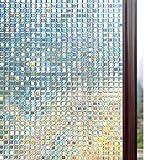 Rabbitgoo 窓 めかくしシート ガラスフィルム 目隠し 断熱 結露防止 リメイク 無接着剤 貼ってはがせる 窓用フィルム シール ステンドグラス 窓に貼るカーテン 外から見えない 平たなガラス