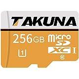 TAKUNA マイクロ SDカード 128/256/400GB 高速 クラス10 マイクロSD SDXCカード、アダプター付き (256GB)