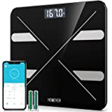 Bluetooth Body Fat Scale,Homever Scales Digital Weight Bathroom Scale Smart Scale 13 Body Composition Monitor Fitness Analyze