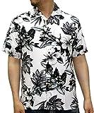 (ルーシャット) ROUSHATTE アロハシャツ 半袖 シャツ レーヨン ハイビスカス 12color M 柄7
