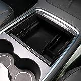 Topfit for Tesla Model 3 2021 Center Console Organizer Tray Flocking Storage Box Lastest Accessories