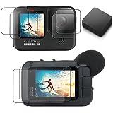 【ActyGo】 液晶保護フィルム GoPro hero10/hero9用 メディアモジュラー使用可 3か所×2枚