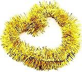 DCMA パーティー クリスマス リース キラキラ パーティー モール フリフリ 飾り ボリューム感 Lサイズ 幅8CM 長2M 1点 ゴールド