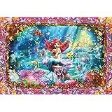 500ピース ジグソーパズル ステンドアート リトルマーメイド ビューティフルマーメイド(アリエル) ぎゅっとシリーズ(25x36cm)