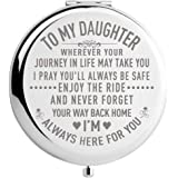 DIDADIC Daughter Gifts from Mom and Dad on Wedding Day, Graduation Gifts for Her, Birthday Gifts for Girls, Engraved Makeup M