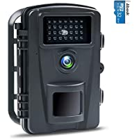 防犯カメラ トレイルカメラ ABASK 屋外カメラ 電池式 暗視カメラ 90°撮影範囲 人感センサー IP66防水防塵…