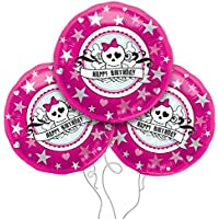 誕生日SkullyピンクMylar Balloon 3pk