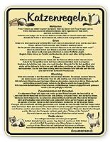 katzenregeln Blechschild17cm X 22cm