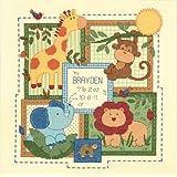 """ディメンジョンズ クロスステッチ 刺繍キット""""サバンナ・お誕生記録""""   Dimensions  Counted Cross Stitch Kit  Baby Hugs Savannah Birth Record     DIM クロスステッチキット Baby Hugs Savannah Birth Record  【並行輸入品】"""