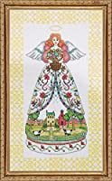 "Summer Angel-Jim Shore Counted Cross Stitch Kit-9""X15"" 14 Count (並行輸入品)"