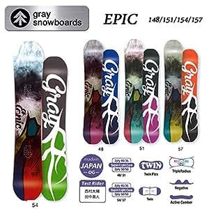 15-16 GRAY グレイスノーボード EPIC (154)