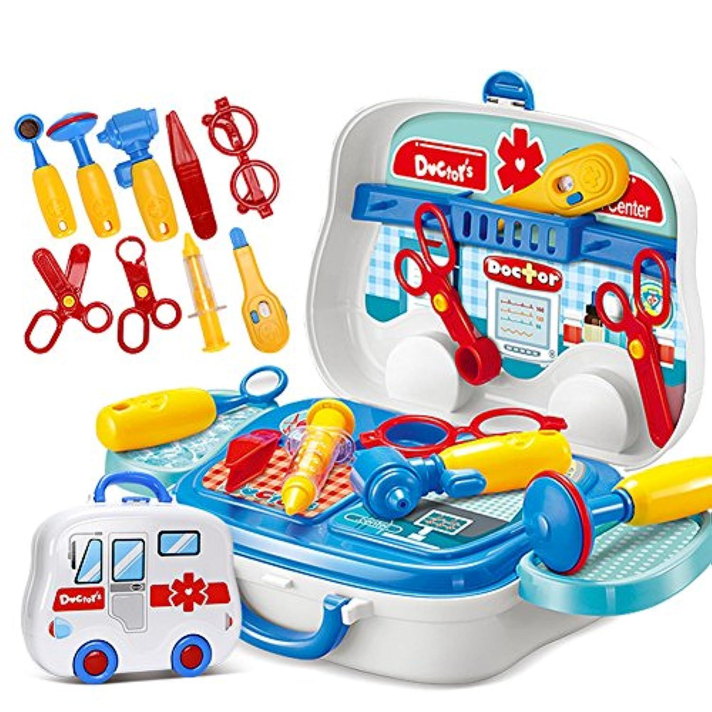 ireav子医者看護婦医療機器Pretend Play Set子供教育玩具役割ゲームツールアクセサリーポータブルスーツケース