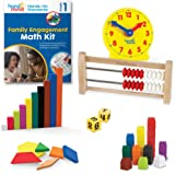 hand2mind - 93531 Hands-On Standards, Learning at Home Family Engagement Kit for Grade 1, Math Activity Book with Math Manipu