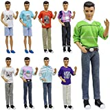 5 Sets Casual Outfits for Barbie's Boy Friend Ken Doll