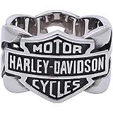 Harley-Davidson メンズ バー&シールド ステンレススチールチェーン H-D リング HSR0029