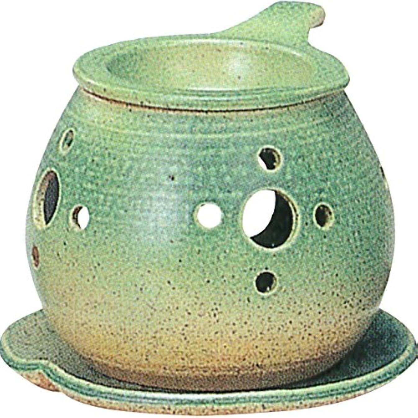 チューブトレイル日付付き茶香炉 : 常滑焼 間宮 茶香炉? ル35-02
