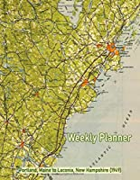 Weekly Planner: Portland, Maine to Laconia, New Hampshire (1949): Vintage Topo Map Cover