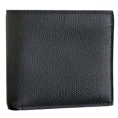 Valextra(ヴァレクストラ) 財布 メンズ グレインレザー 2つ折り財布 ブラック V8L04-028-000N [並行輸入品]