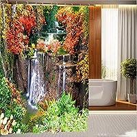 浴室のシャワーカーテン 世帯浴室の仕切りのカーテン、ホックが付いている浴室のカーテン3Dのシャワーのカーテン防水カーテンの浴室のシャワーのカーテン厚いシャワーのカーテン (Color : 200*180cm)