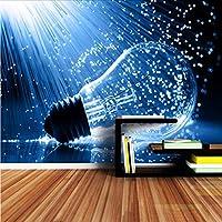 Wuyyii 現代の壁紙写真の壁紙3 Dリビングルームの壁壁画ランプ電球の水ダイニングルームホームロール壁紙-250X175Cm