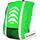Salzmann Reflective and Waterproof Backpack Cover | Made with 3M Scotchlite | High Visibility Raincover for Rucksacks