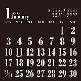 トライエックス 卓上 BLACKスケジュール 2021年 カレンダー 黒 卓上 CL-650