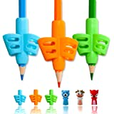 Pencil Grips,ANERZA Pencil Grips for Kids Handwriting,Writing Aid Grip for Preschoolers,Silicone Ergonomic Writing Tool for S