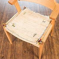【1点もの?ギャッベ】夏涼しくて冬暖かい、カシュガイ族の織るウール100%手織りギャッベ ?座布団サイズ/約41×41cm厚み約1.6cm