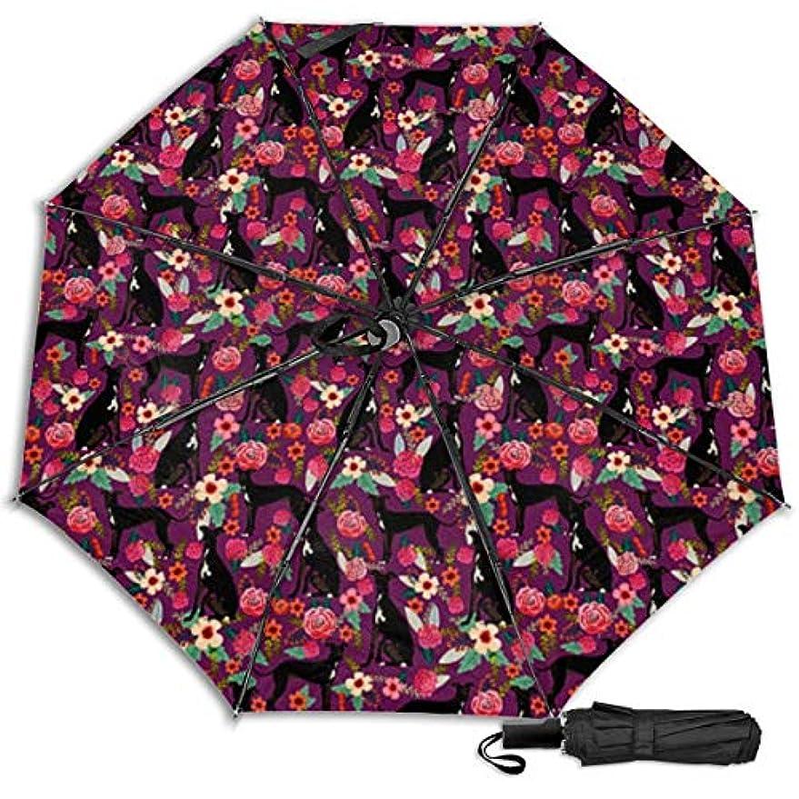 改修命令ピカリングイタリアングレイハウンドフローラルドッグ日傘 折りたたみ日傘 折り畳み日傘 超軽量 遮光率100% UVカット率99.9% UPF50+ 紫外線対策 遮熱効果 晴雨兼用 携帯便利 耐風撥水 手動 男女兼用