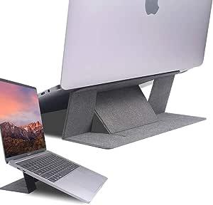 Qrosübo(クロスボ) 折りたたみ式 超薄型 世界で最も愛されている ノートパソコン スタンド VINCI(ヴィンチ) 4色バリエーション 角度調整可能 超薄型軽量 11.6-15.6インチ対応 ラップトップスタンド Macbook/Surface オフィス・カフェ・テレワーク・リモートワーク・自宅で仕事 いつでも快適にPC作業できる環境を可能に! (グレー)