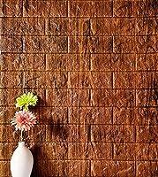 YETUGE 壁紙 レンガブリック 大理石調 クッション かるかる リフォーム DIY 軽量 厚さ9mm ブリック タイル (壁紙 張り替え) レンガ柄 1