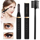 Heated Eyelash Curler, Demonlick Rechargeable Electric Eyelashes Curlers with Double-Sided Eyelash Brush, Quick Long-Lasting