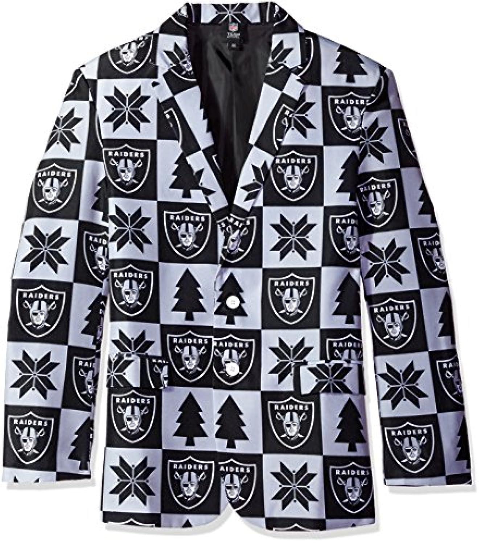 NFL Oakland RaidersメンズパッチUglyビジネスジャケット、サイズ46 / Large