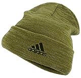 (アディダス)adidas メンズ 杢 ミックス 天竺 織り ニット 帽 ビーニー ワッチ キャップ ロゴ刺繍 134-711-503 (93 サンド(カーキxベージュ))