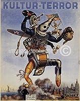 第二次世界大戦オランダプロパガンダポスター恐怖24x36平行輸入額縁共
