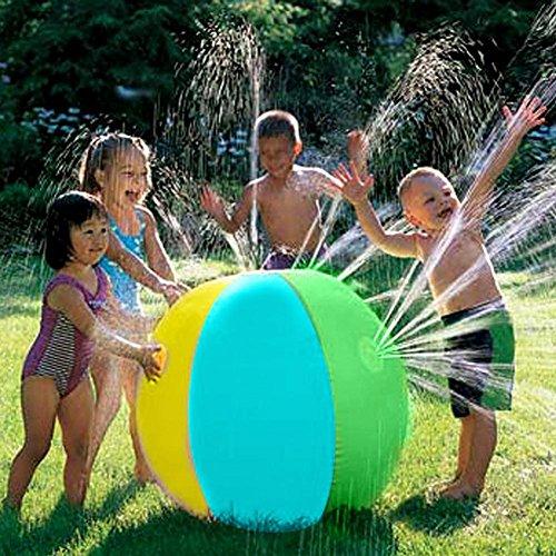 インフレータブル 水スプレーボール ウォーター ボール 噴水シャワーボール アウトドア プレイ ボール スプ...