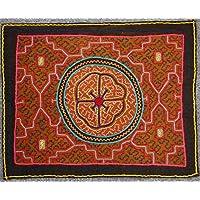 【SHIPIBO アマゾンの先住民のシピボ族の刺繍布No.2】本物のシピボ族 手刺しゅうの布 ペルー直輸入
