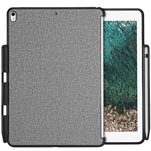 ProCase iPad Pro 10.5 ケース 保護ケース バックカバー Appleペンシルホルダー付き iPad Pro 10.5インチ 2017専用 Appleスマートキーボードとカバーに対応 -グレー