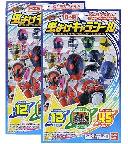 虫よけキャラシール 宇宙戦隊キュウレンジャー 45枚入×2個セット