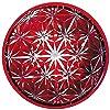 セメントプロデュースデザイン ガラスケース 麻の葉文様/赤 10×2.5cm キリハコ KH-02rd