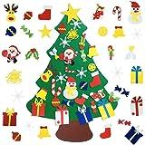 Mazoliy Kids DIY Felt Christmas Tree with 30pcs Set Wall Hanging Detachable Ornaments Xmas Gifts Children Friendly Christmas