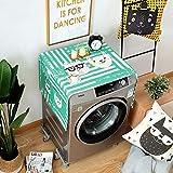 洗濯機ダストカバー多機能冷蔵庫トップカバー冷蔵庫ダストカバー、綿、漫画、ユニバーサル,J