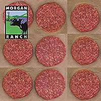 モーガン牧場ビーフ アメリカ産 牛肉 熟成 高品質 プレミアム アメリカンビーフ ハンバーガー用牛肉パティ アメリカンビーフ ホルモン剤や抗生物質不使用 9枚 合計1.5kg