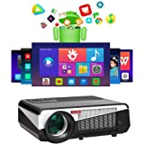 Gzunelic 6500 lumens Android WiFi 1080p Video Projector LCD LED Full HD Theater Proyector with Bluetooth Wireless Synchronize