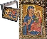 フォトジグソーパズルofヨーロッパ、スペイン、サラマンカ、Madonna and Child painting in大聖堂