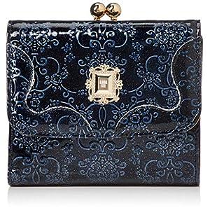 [アナ スイ]二つ折り財布 【新型】二つ折り口金財布 ルーミー ネイビー