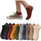 Belloxis 靴下 レディースくるぶし ソックス レディース パンプス 靴下 かわいいカバー 綿 防臭・透湿 滑り止め